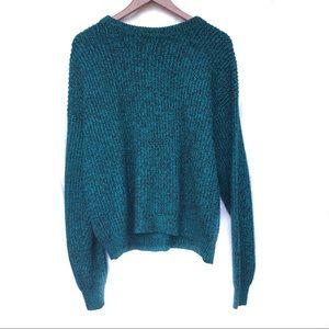 Vintage Speckled Sweater Blue Black Women's Large